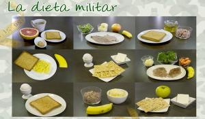 la dieta militar