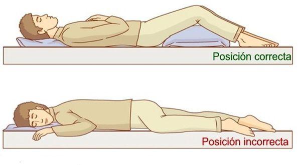 dolor de espalda y posicion