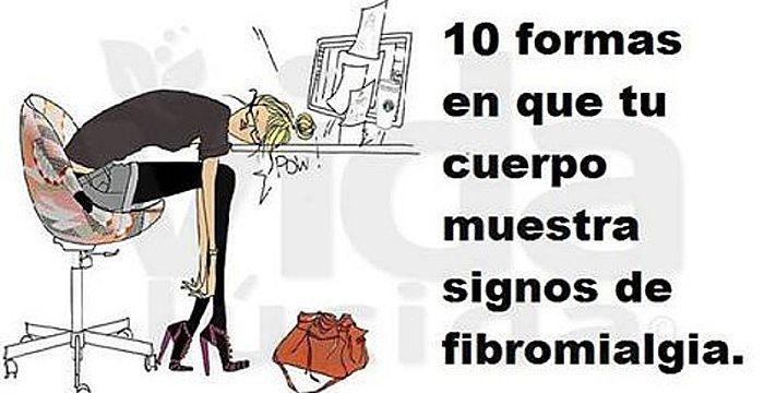 Image result for 10 formas de tu cuerpo mostrar signos de Fibromialgia
